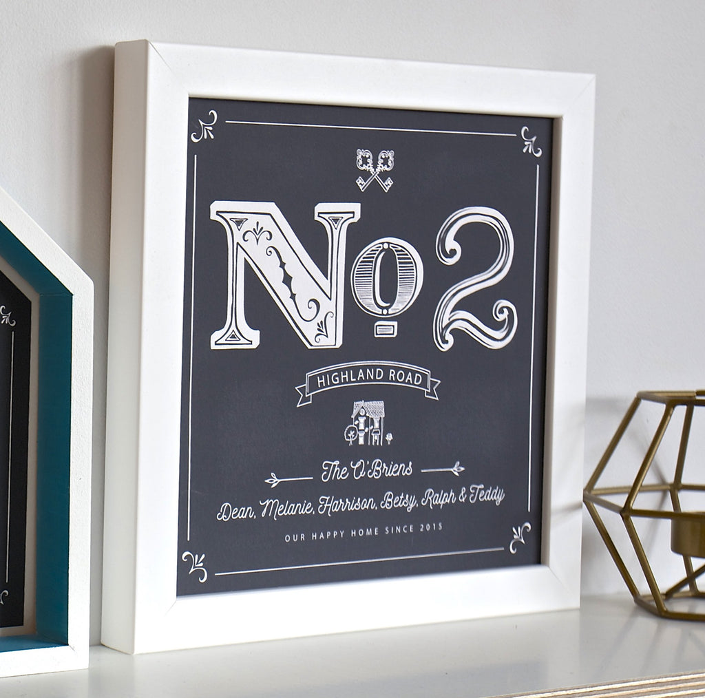 Personalised House Number Framed Print
