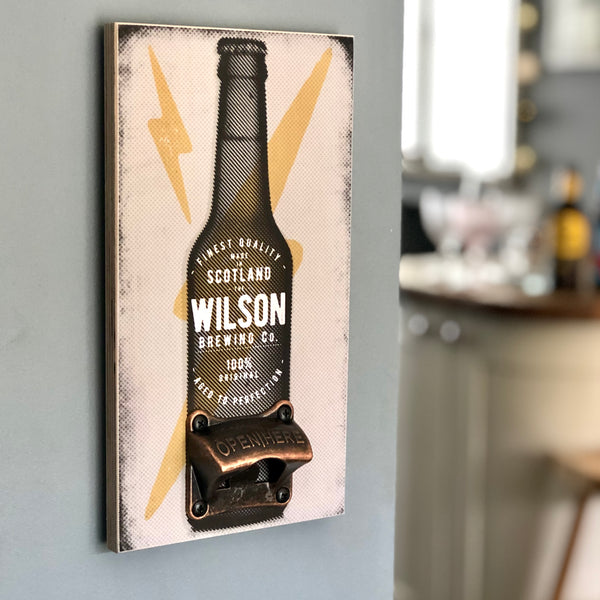 Personalised Bottle Opener Wall Plaque