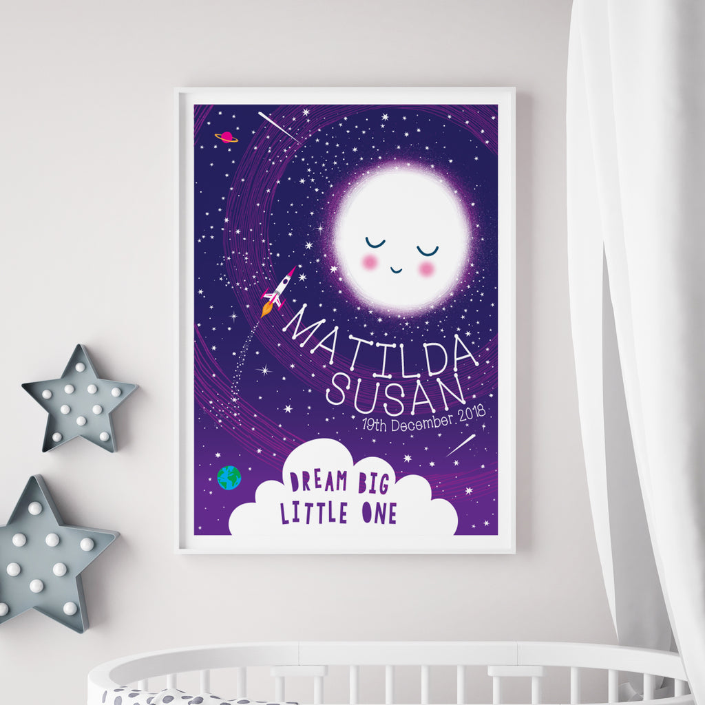Personalised Reach For The Stars Space Height Chart