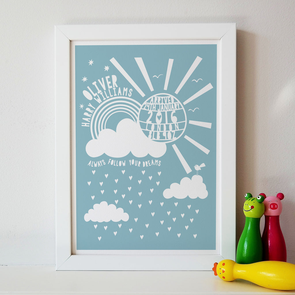 Personalised New Baby Sunshine Print