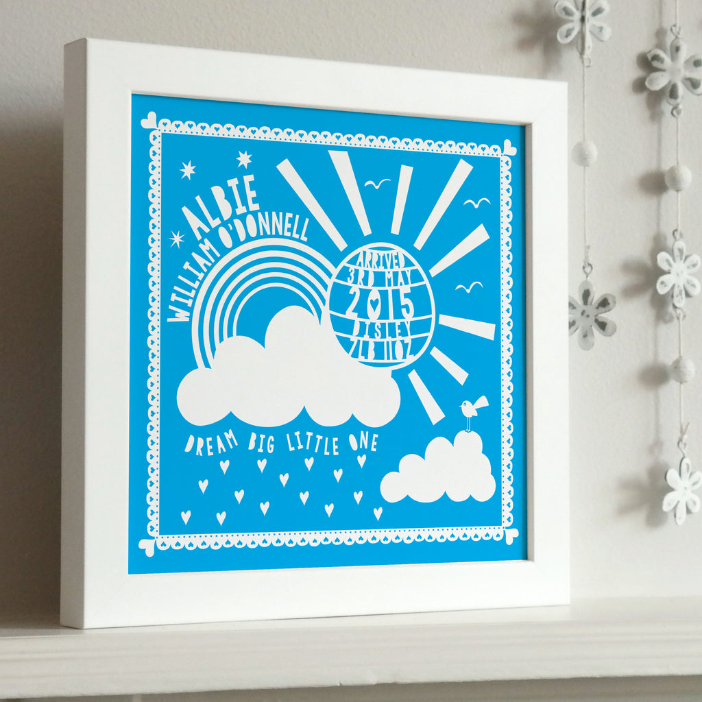 Framed New Baby Sunshine Print