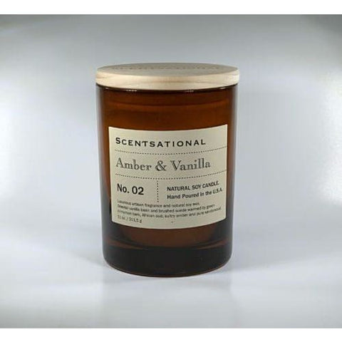 Apothecary Amber and Vanilla Candle