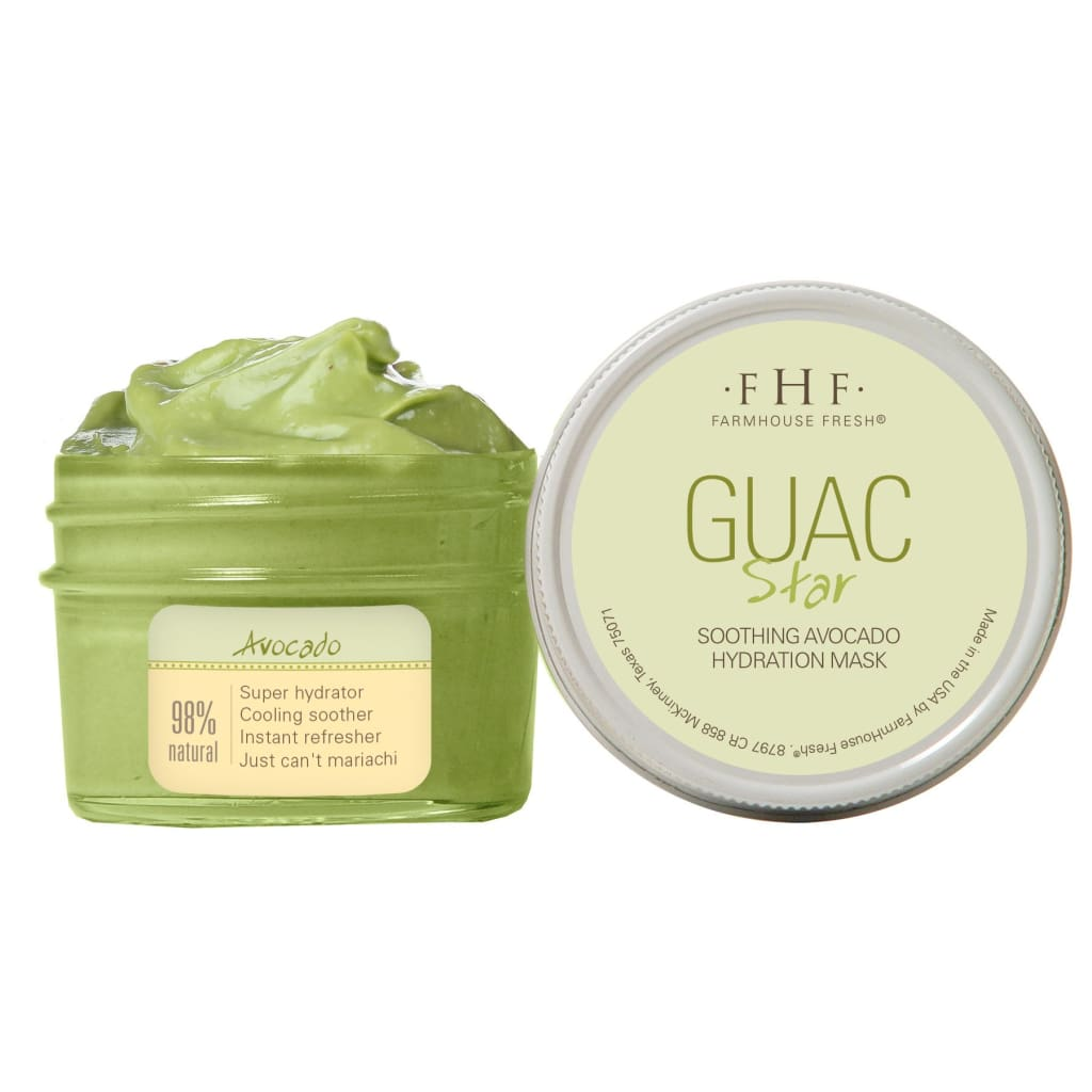 Guac Star Soothing Avocado Hydration Mask - Facial And Lip Care