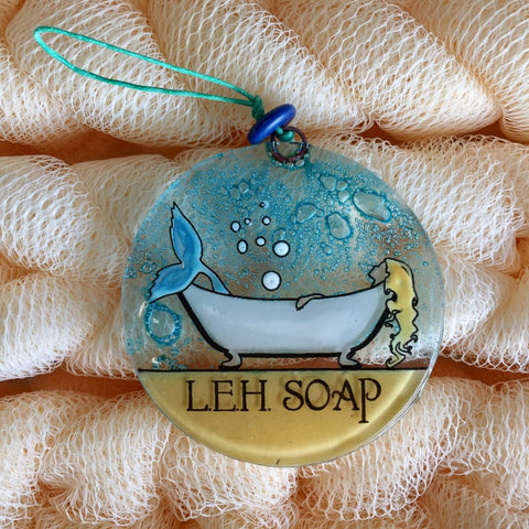 LEH Soap Company Glass Ornament