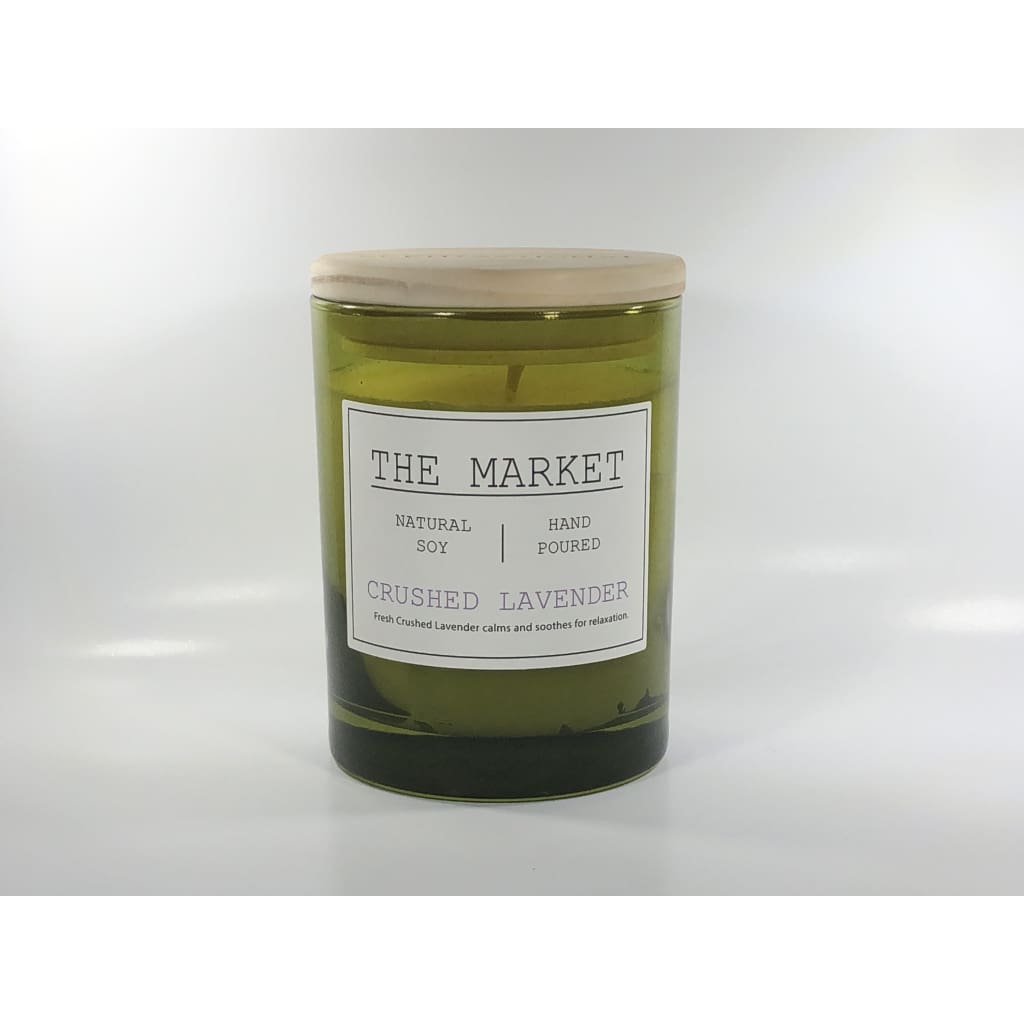 The Market Crushed Lavender Candle - Candle