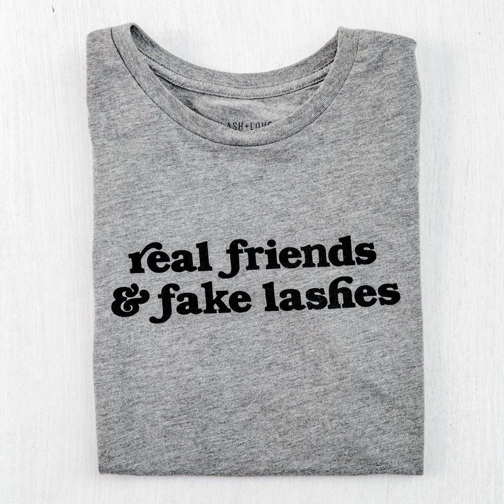 Real friend & fake lashes crew neck tee