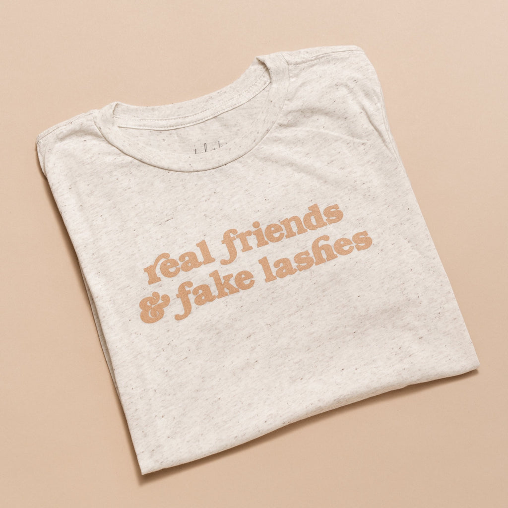 Tan Real Friends & Fake Lashes Tee