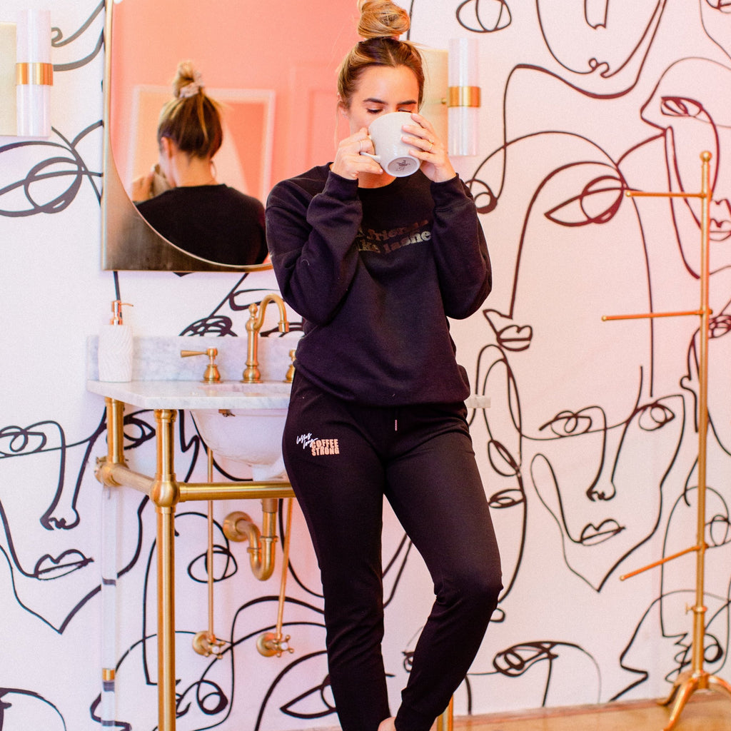 Lashes & Coffee Chic Jogger