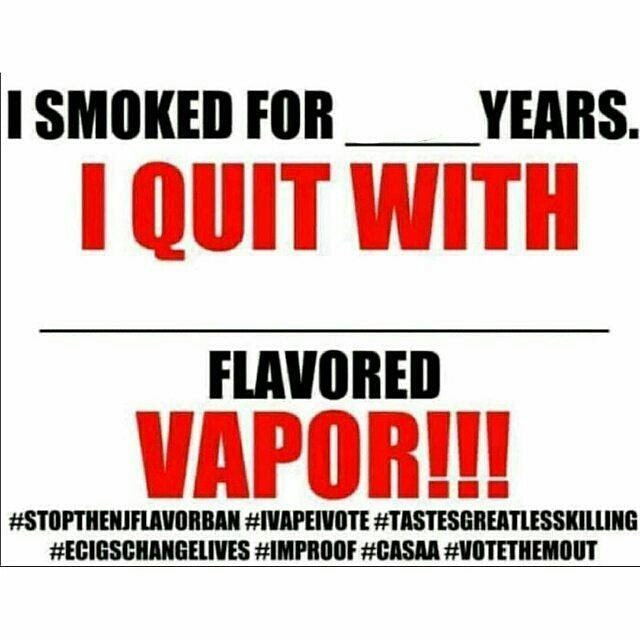 I quit with ecigs (blank) flavored vapor!
