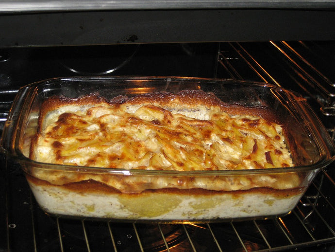 The Potato Kugel - Potato's and Freshly Ground Pepper are a Match Made in Heaven