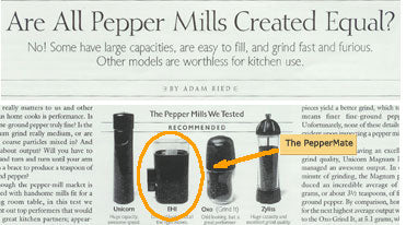 Cooks Illustrated compares the best pepper mills
