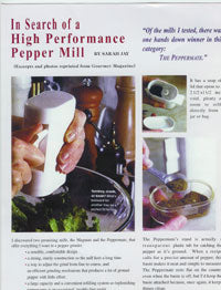 Fine Cooking Article on High Performance Pepper Mill