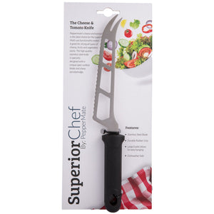 Superior Chef Cheese & Tomato Knife - PepperMate.com | The Home of the World Famous and Best Pepper Mills and Grinders | Fresh Pepper Every Time