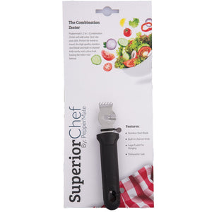 Superior Chef 2 in 1 Combination Zester - PepperMate.com | The Home of the World Famous and Best Pepper Mills and Grinders | Fresh Pepper Every Time