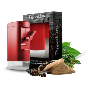 PepperMate Traditional Pepper Mill Red - PepperMate.com | The Home of the World Famous and Best Pepper Mills and Grinders | Fresh Pepper Every Time