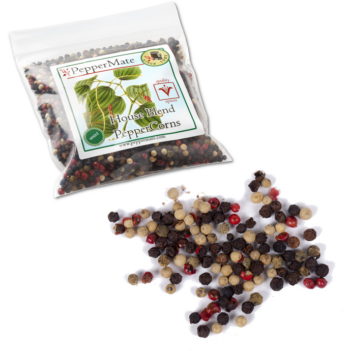 Gourmet PepperMate Peppercorn House Blend - PepperMate.com | The Home of the World Famous and Best Pepper Mills and Grinders | Fresh Pepper Every Time