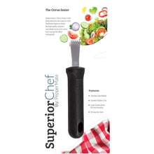 Load image into Gallery viewer, Superior Chef Simple Citrus Zester - PepperMate.com | The Home of the World Famous and Best Pepper Mills and Grinders | Fresh Pepper Every Time