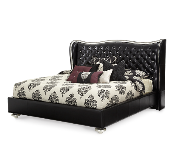 AICO - Michael Amini - Hollywood Swank Starry Night Starry Night Cal King Upholstered Bed