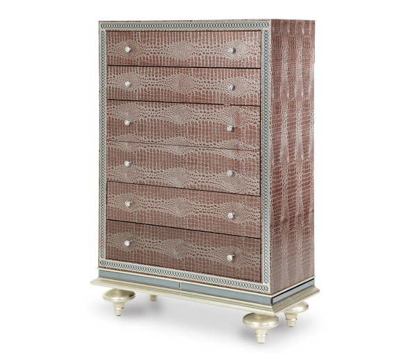 AICO - Michael Amini - Hollywood Swank Amazing Gator Upholstered Chest