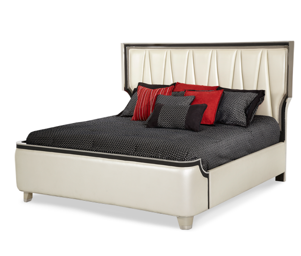 AICO - Michael Amini - Beverly Blvd Cal King Upholstered Bed