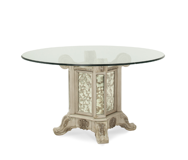 AICO - Michael Amini - Platine de Royale 54 Round Glass Top w/Table Base