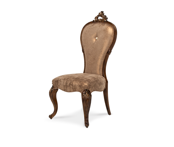 AICO - Michael Amini - Platine de Royale Lt. Espresso Platine de Royale Side Chair Light Espresso
