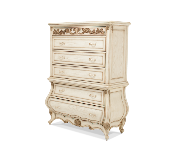 AICO - Michael Amini - Platine de Royale 6 Drawer Chest (2 pc)