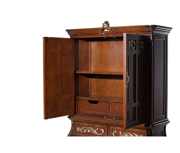 AICO - Michael Amini - Platine de Royale Lt. Espresso 2 Door Chest (2 pc)