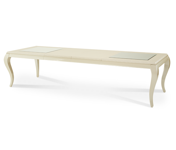AICO - Michael Amini - After Eight Pearl Croc 4 Leg Rectangular Dining Table