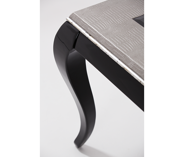 AICO - Michael Amini - After Eight Titanium 4 Leg Rectangular Dining Table