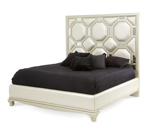 AICO - Michael Amini - After Eight Cal King Upholstered Bed