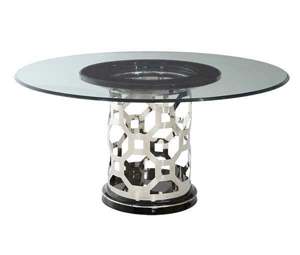AICO - Michael Amini - After Eight 60'' Round Glass Top Dining Table