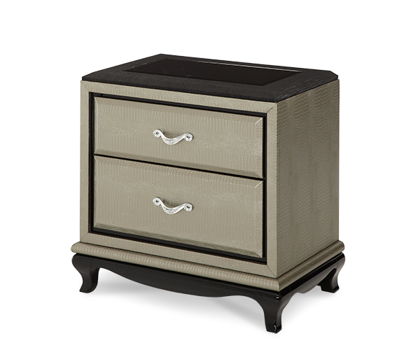 AICO - Michael Amini - After Eight Titanium Nightstand