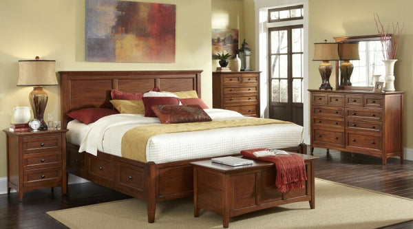 A-America - Westlake Cherry Brown Storage Bed