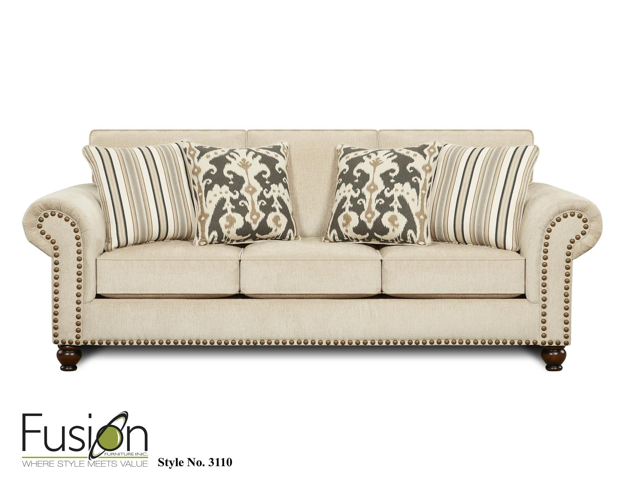 Kagan s Home Fusion 3110 Fairly Sand Sofa Sleeper