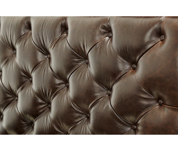 AICO - Michael Amini - Bella Cera Queen Panel Bed w/Leather Tufted Headboard