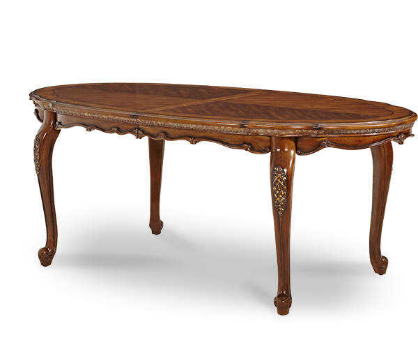 AICO - Michael Amini - Lavelle Melange Oval Leg Dining Table (Includes 1 x 24 Leaf)
