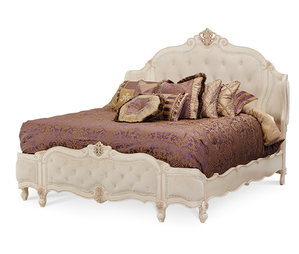 AICO - Michael Amini - Lavelle Cal King Wing Mansion Bed