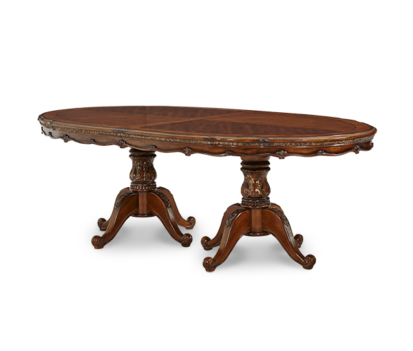 AICO - Michael Amini - Lavelle Melange Oval Pedestal Dining Table (2 pc)