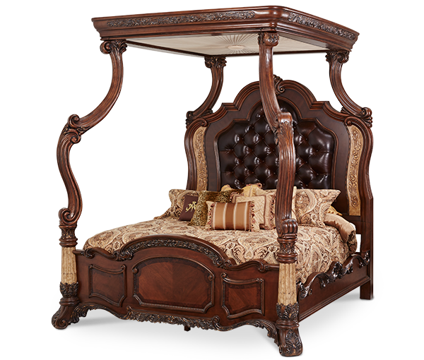 AICO - Michael Amini - Victoria Palace Cal King Canopy Bed (4 pc)