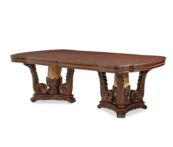 AICO - Michael Amini - Victoria Palace Rectangular Double Pedestal Dining Room Table (2 pc)