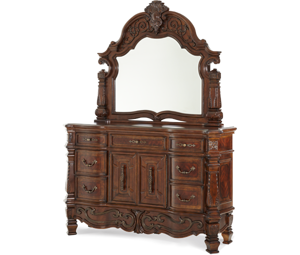 AICO - Michael Amini - Windsor Court Dresser & Mirror (2pc)