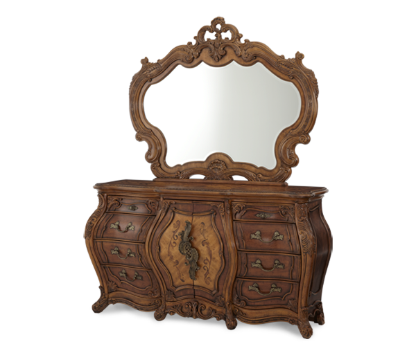 AICO - Michael Amini - Palais Royale Triple Dresser & Mirror (2pc)