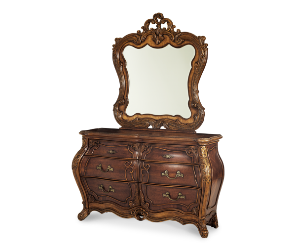AICO - Michael Amini - Palais Royale Double Dresser & Mirror (2pc)