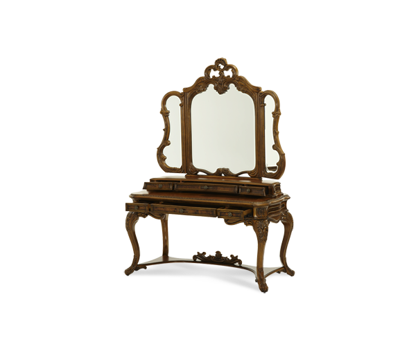 AICO - Michael Amini - Palais Royale Vanity Desk - Drawer Unit & Mirror