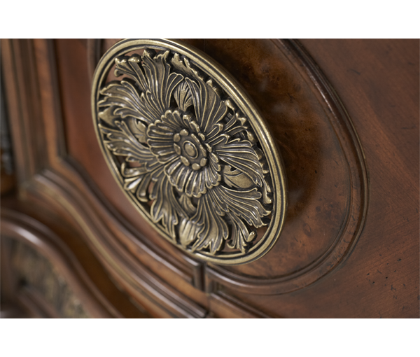 AICO - Michael Amini - Villa Valencia Bedside Chest and Decorative Mirror