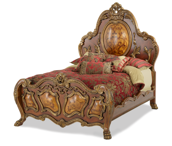 AICO - Michael Amini - Chateau Beauvais King Panel Bed (3 pc)