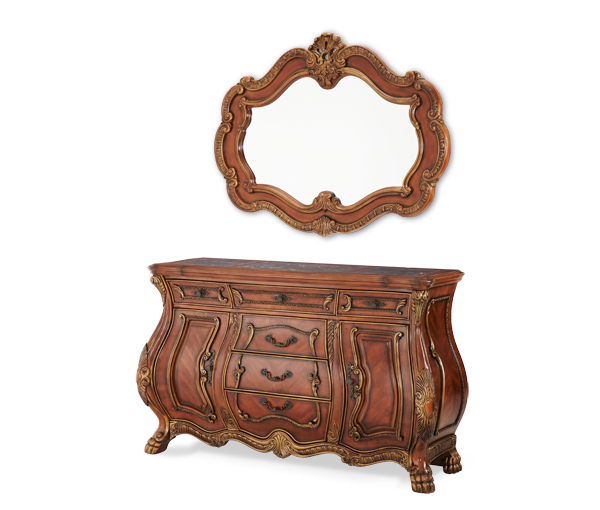 AICO - Michael Amini - Chateau Beauvais Sideboard and Mirror (2 pc)