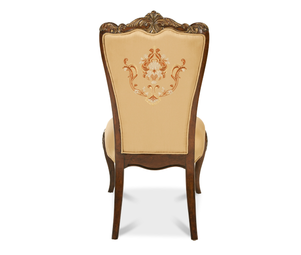 AICO - Michael Amini - Imperial Court Fabric Back Side Chair