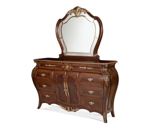AICO - Michael Amini - Imperial Court Dresser & Mirror (2pc)